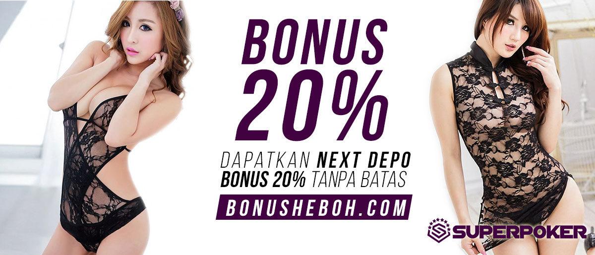 Permalink to: Bonus Poker Bonus Deposit 20% Member Baru dari Superpoker